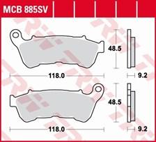 TRW Plaquettes de frein SV/SH MCB885SV