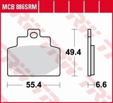 TRW Plaquettes de frein métal fritté SRM MCB886SRM