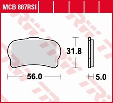 TRW Plaquettes de frein RSI MCB887RSI