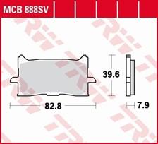 TRW SV/SH Remblokken MCB888SV