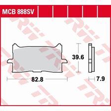 TRW Plaquettes de frein SV/SH MCB888SV