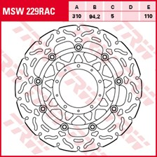 TRW MSW disque de frein flottant RAC design MSW229RAC