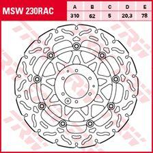 TRW MSW disque de frein flottant RAC design MSW230RAC