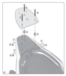 GIVI Topkofferhouder Monolock - SR SR5612