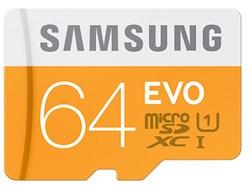 SAMSUNG : Micro SD kaart - 64 GB class 10