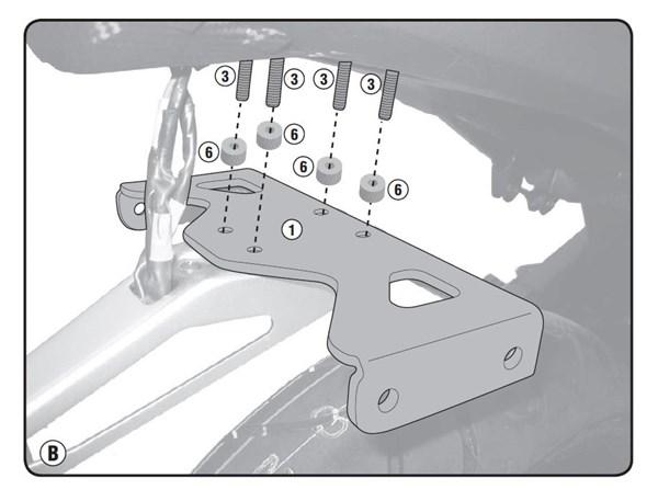GIVI 'Zonder topkofferhouder' kit PLR/PLX(R) 1152KIT