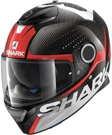 SHARK Spartan Carbon Cliff Carbone-Rouge-Blanc DRW
