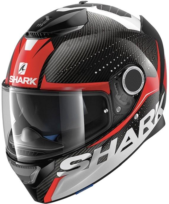 SHARK Spartan Carbon Cliff Carbon-Rood-Wit DRW