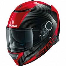SHARK Spartan Carbon Skin Carbon-Rood-Rood DRR