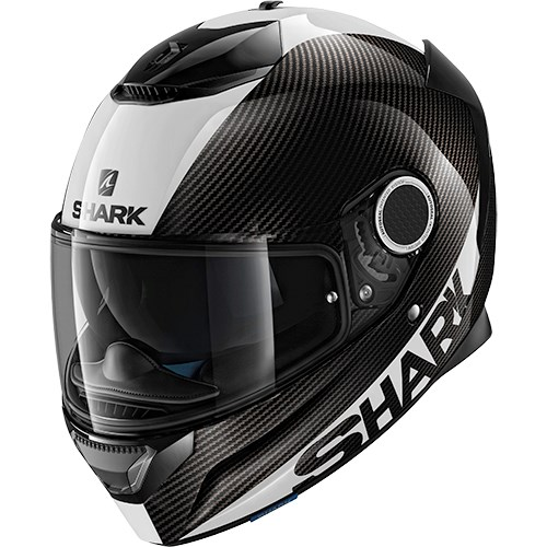SHARK Spartan Carbon Skin Carbon-Wit-Zilver DWS