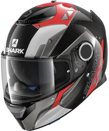 SHARK Spartan Carbon Bionic Carbon-Rood-Antraciet DRA