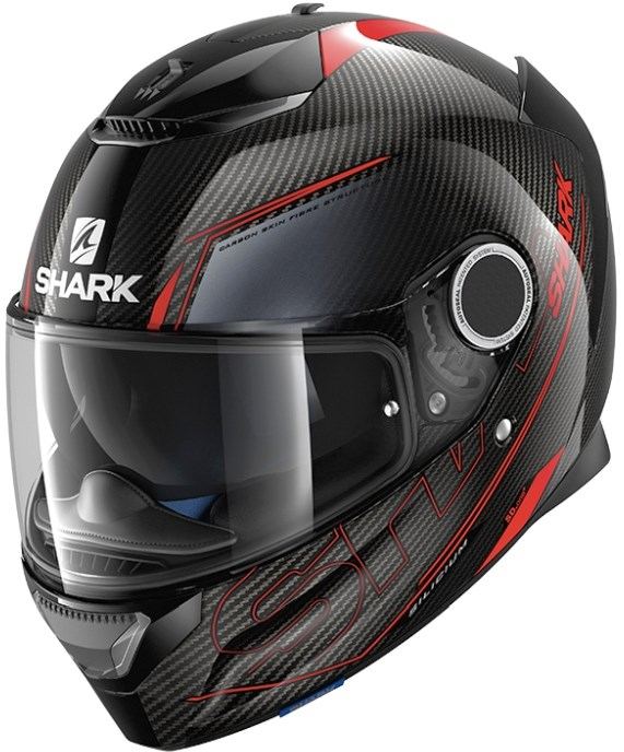 SHARK Spartan Carbon Silicium Carbon-Rood-Antraciet DRA