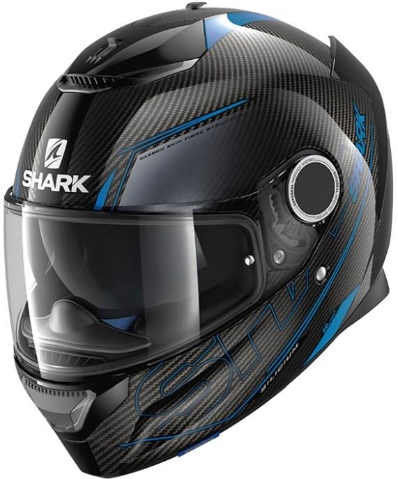 SHARK Spartan Carbon Silicium Carbon-Blauw-Antraciet DBA