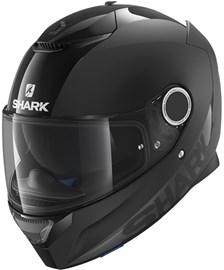 SHARK Spartan Dual Black Mat/glanzend zwart BLK