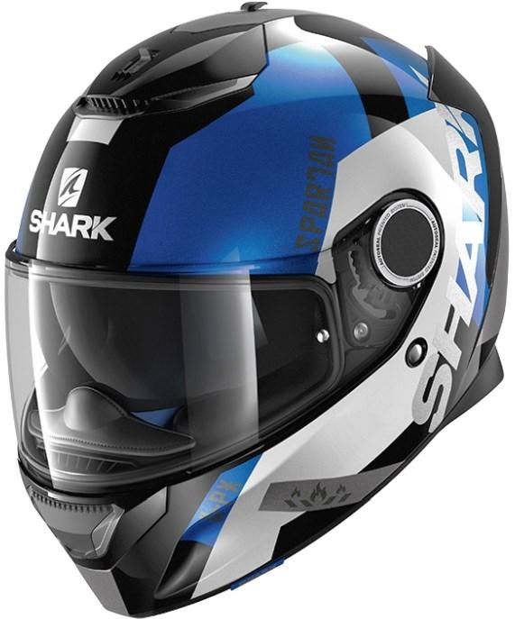 SHARK Spartan Apics Noir-Blanc-Bleu KWB