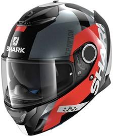 SHARK Spartan Apics Noir-Rouge-Anthracite KRA