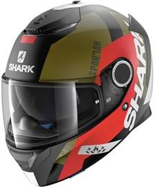SHARK Spartan Apics Mat Noir-Rouge-Vert KRG