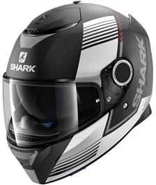 SHARK Spartan Arguan Mat Zwart-Wit-Rood KWR