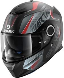 SHARK Spartan Karken Mat Zwart-Rood-Antraciet KRA
