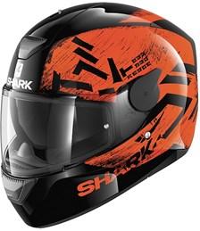 SHARK D-Skwal Hiwo Noir-Orange-Noir KOK