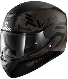 SHARK D-Skwal Hiwo Mat Zwart-Antraciet-Zwart KAK