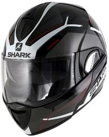 SHARK Evoline 3 Hataum Noir-Blanc-Rouge KWR