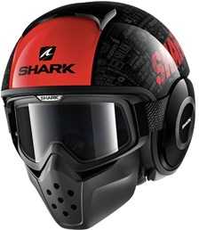 SHARK Drak Tribute RM Zwart-Rood-Antraciet KRA