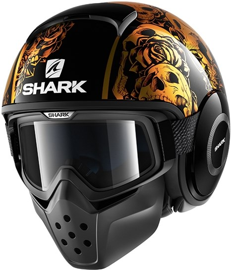 SHARK Drak Sanctus Zwart-Oranje-Oranje KOO