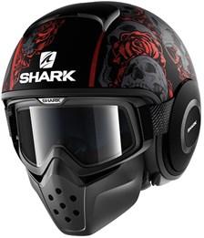 SHARK Drak Sanctus Mat Zwart-Rood-Antraciet KRA