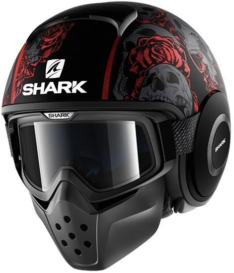 SHARK Drak Sanctus Mat Noir-Rouge-Anthracite KRA