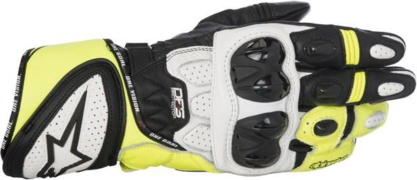 ALPINESTARS GP Plus R Gloves Noir-Blanc-Jaune Fluo