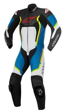 ALPINESTARS Motegi V2 1PC Suit Zwart-Wit-Blauw-Fluo Geel
