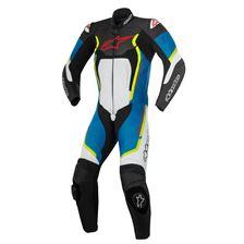ALPINESTARS Motegi V2 1PC Suit Noir-Blanc-Bleu-Jaune Fluo