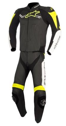 ALPINESTARS Challenger V2 2PC Suit Zwart-Wit-Fluo Geel