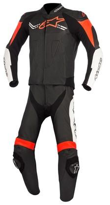 ALPINESTARS Challenger V2 2PC Suit Zwart-Wit-Fluo Rood