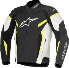 GP Plus R V2 Jacket Zwart-Wit-Geel Fluo