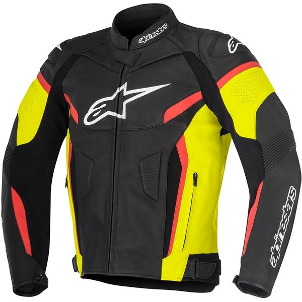 ALPINESTARS GP Plus R V2 Jacket Zwart-Geel Fluo-Rood Fluo