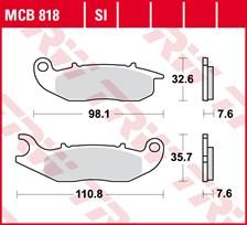 TRW Plaquettes de frein métal fritté SI MCB818SI