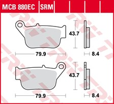 TRW Plaquettes de frein organique EC MCB880EC