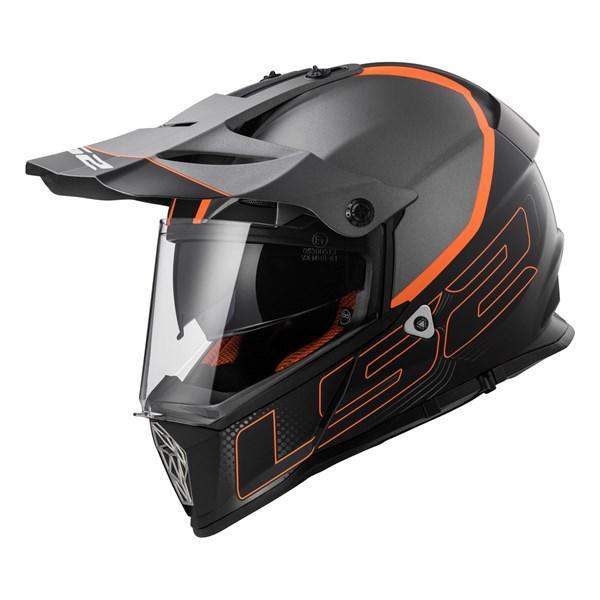 LS2 MX436 Element Noir-Titanium-Orange