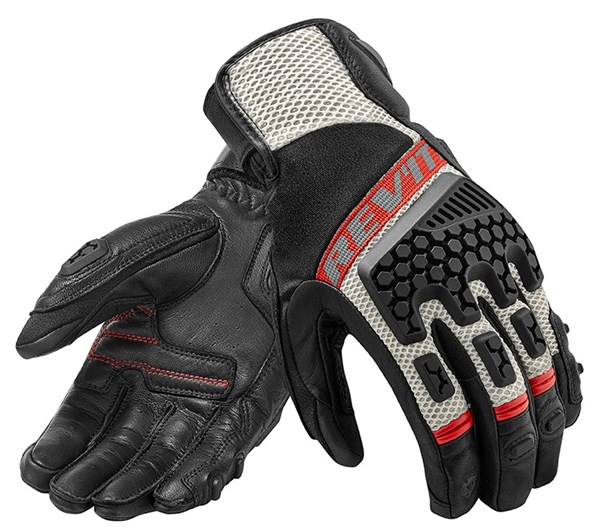 REV'IT! Sand 3 Glove Noir-Rouge