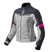 REV'IT! Airwave 2 Jacket Lady Zilver-Fuchsia