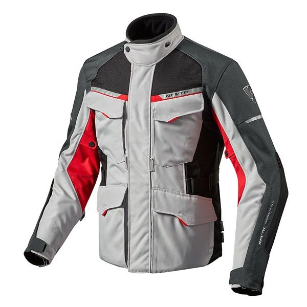 REV'IT! Outback 2 Argent-Rouge