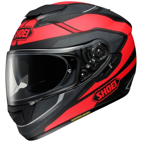 SHOEI GT-Air Swayer Mat Zwart-Rood TC-1