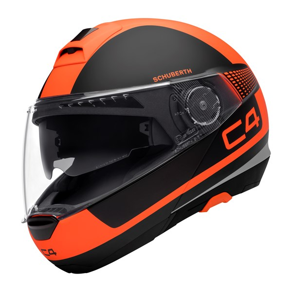 SCHUBERTH C4 Legacy Noir Mat-Orange Fluo