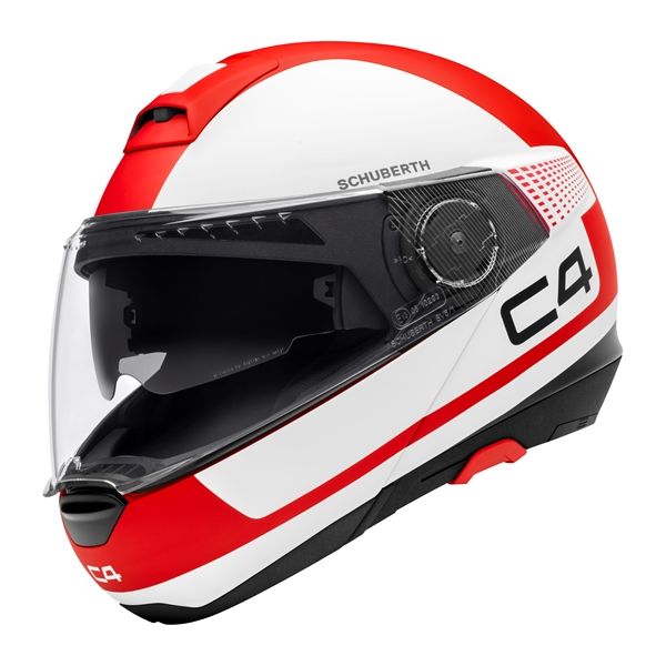 SCHUBERTH C4 Legacy Mat Wit-Rood