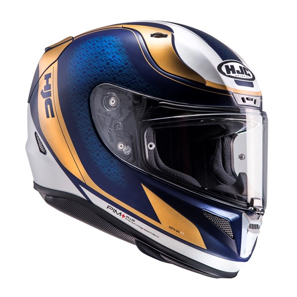 HJC RPHA-11 Riomont Mat Wit-Blauw-Goud