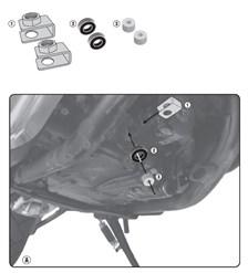 GIVI Montagekit carterbescherming RP1144KIT