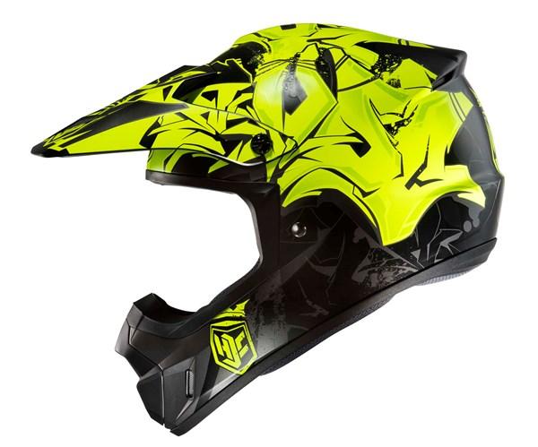 HJC CS-MX II Graffed Geel