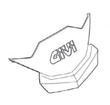 GIVI Dekselcover met logo Z2513R